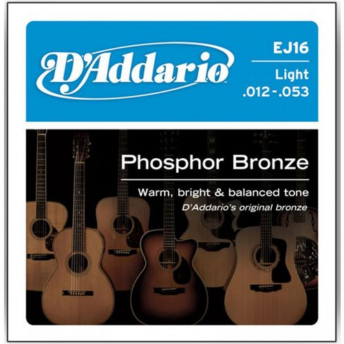 D'Addario EJ16 Light Phosphor Bronze Acoustic 12-53